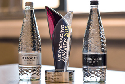 Ardagh and Harrogate Water celebrate award winning bottle design
