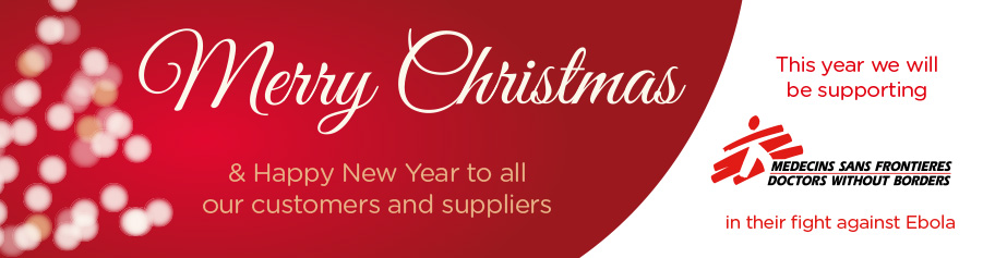 Merry Christmas & Happy New Year to all our customers and suppliers