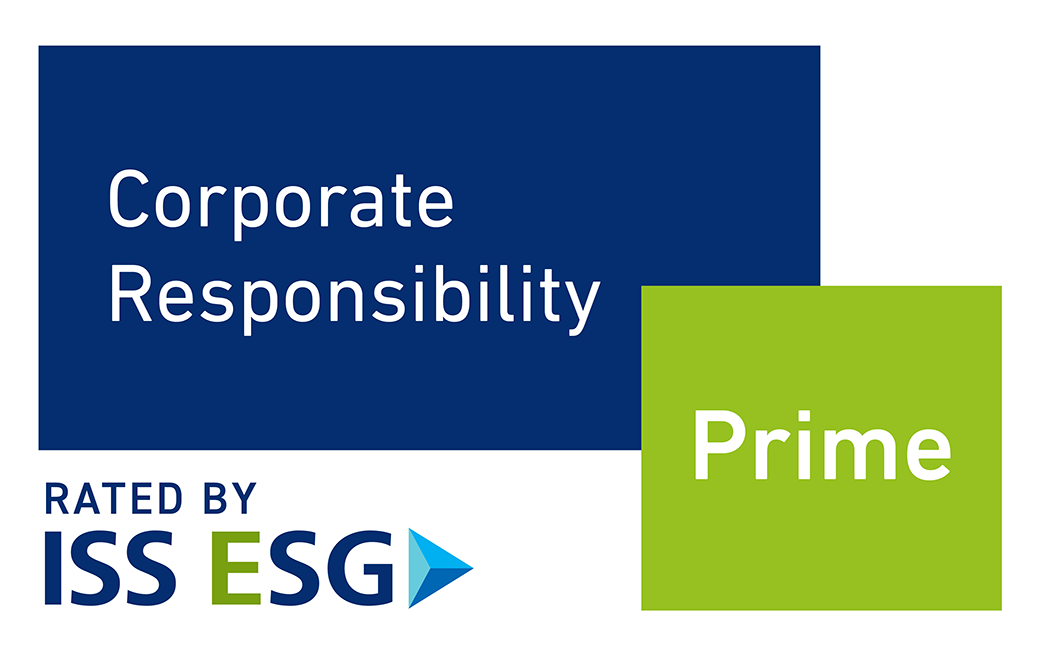 Corporate Responsibility Prime - rated by ISS ESG