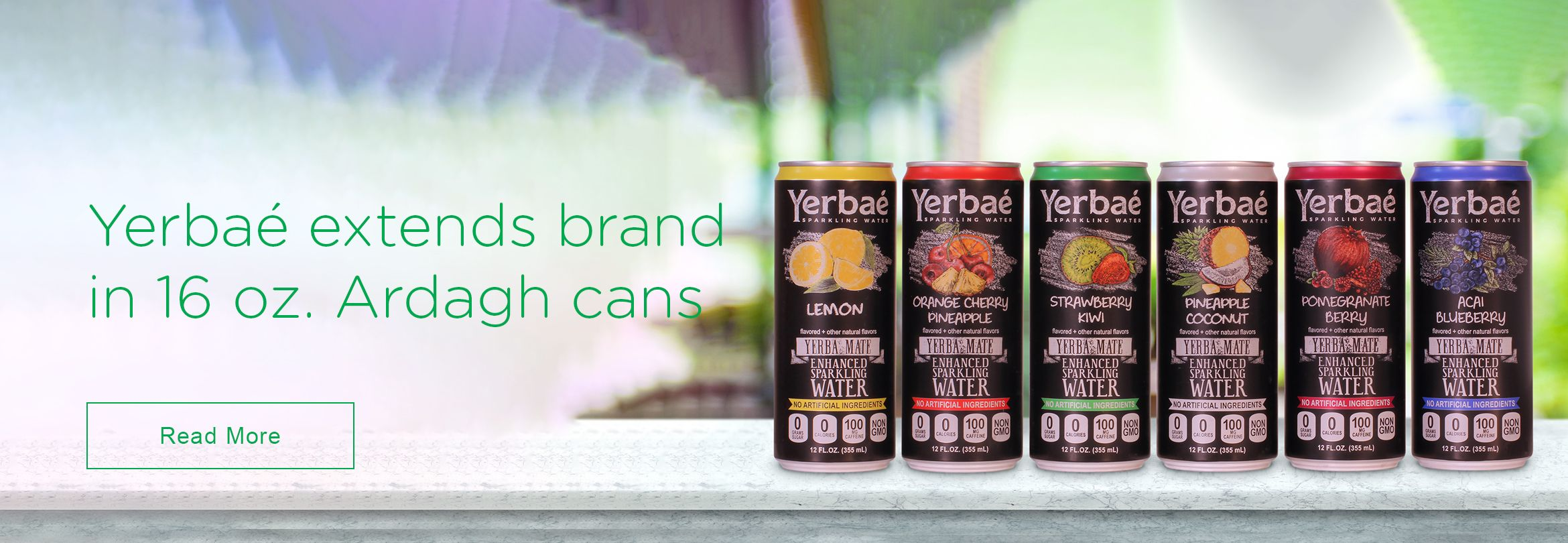 Yerbaé sparkling water extends brand in 16 oz. Ardagh cans