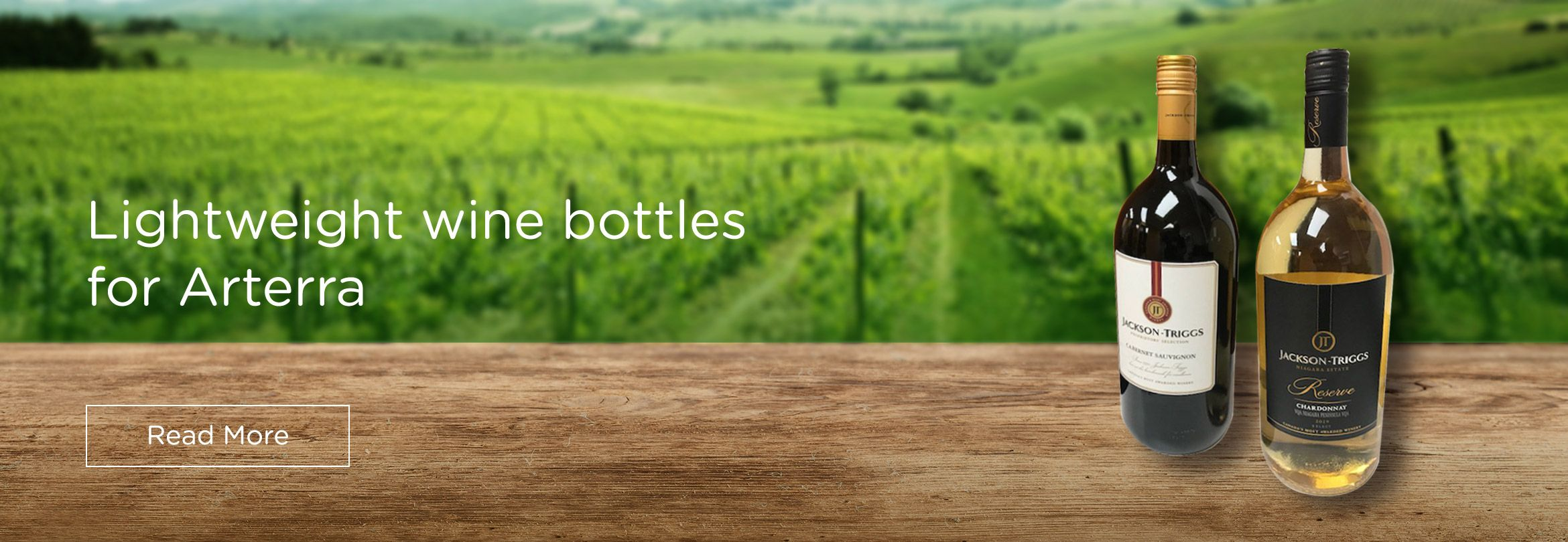 Lightweight wine bottles for Arterra