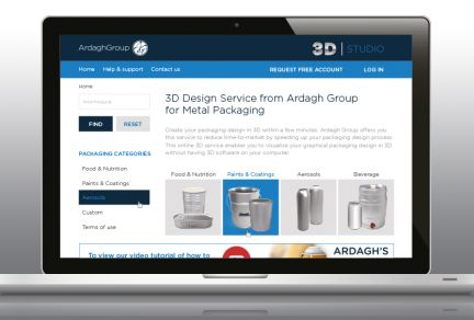 Ardagh Launches 3D Design Studio for its Customers