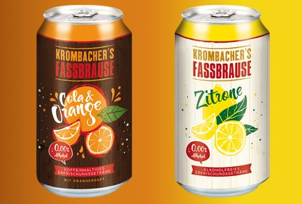 Ardagh Launches Matte Effect on Steel Cans with Krombacher's Fassbrause