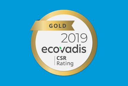 Gold Rating awarded to Ardagh Group by EcoVadis for sustainability performance