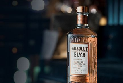 Absolut Elyx bottle honours copper still
