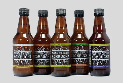 Mountain Culture Kombucha glass bottles