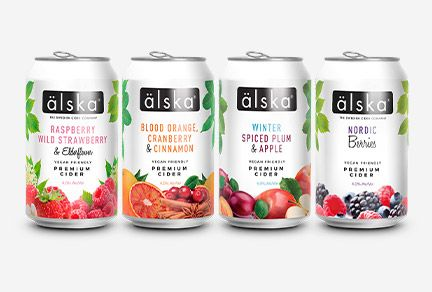Super-HD print finish gives älska fruit cider cans a crisp new look