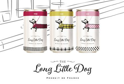 Slim Wine Can for The Long Little Dog
