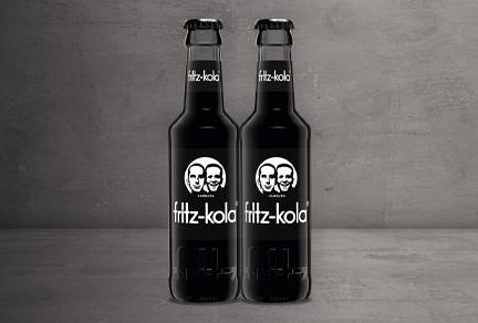 Returnable bottle for fritz-kola Brand